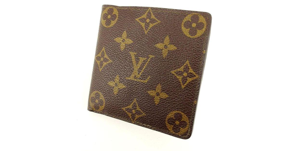 a8d4aec8edd Louis Vuitton Brown Wallet Monogram Womens Men Used T5037 for men