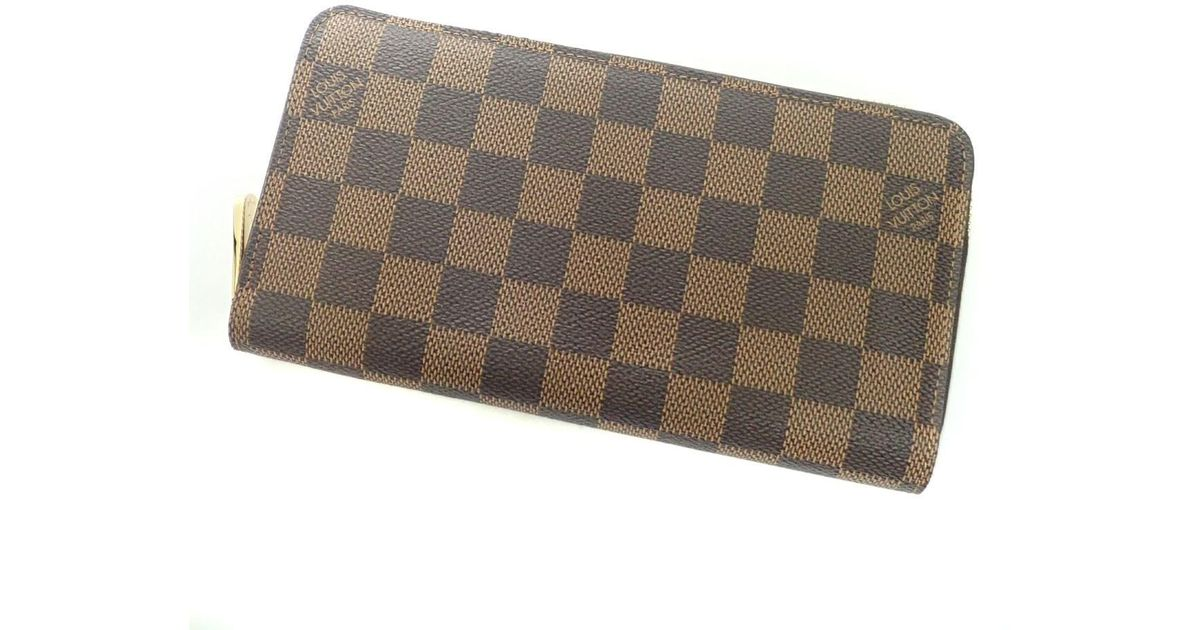 promo code 5f229 a54db Louis Vuitton - Brown Damier Canvas Purse (with Coin Purse) N60015 Zippy  Wallet Old - Lyst