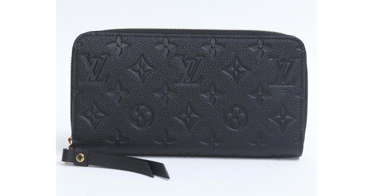 more photos 1b023 6bb65 Louis Vuitton Zippy Long Wallet Monogram Empreinte Leather Black M61864