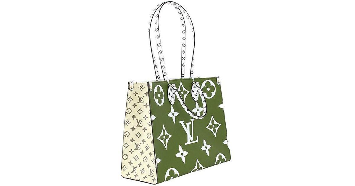 cfd450078c5 Louis Vuitton Natural On The Go Gm Monogram Giant M44571 Shoulder Bag Tote  Bag Khaki White Handbag Women Men M44571 New