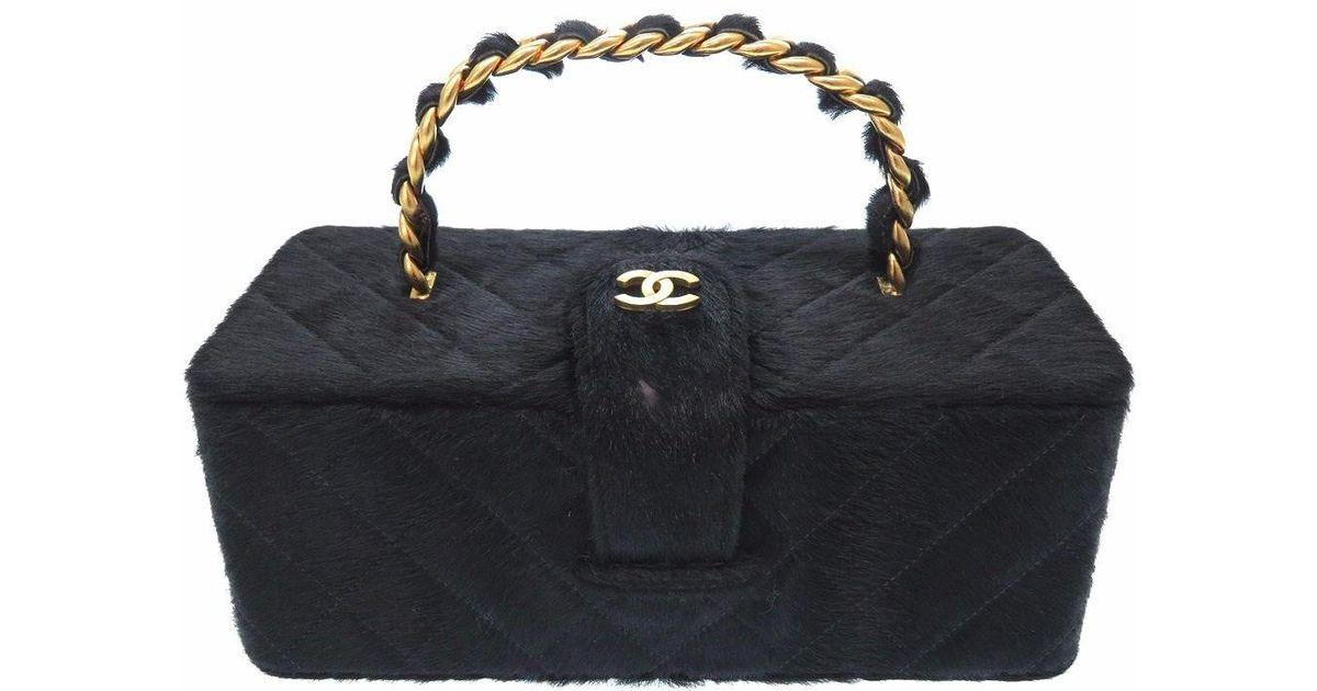 5699810cbd40 Lyst - Chanel Cc Mark Vintagehand Bag Black Harako 0520 in Black
