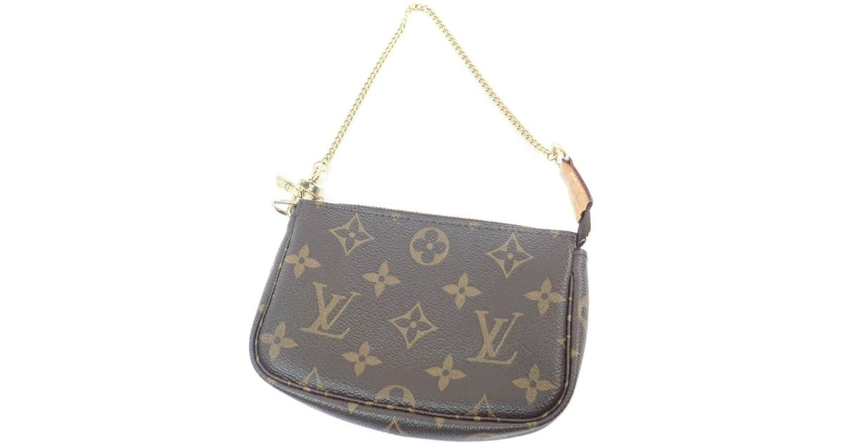 c2cfdeed5953 Lyst - Louis Vuitton Monogram Canvas Accessory Pouch M58009 Mini Pochette  Accessoires in Brown