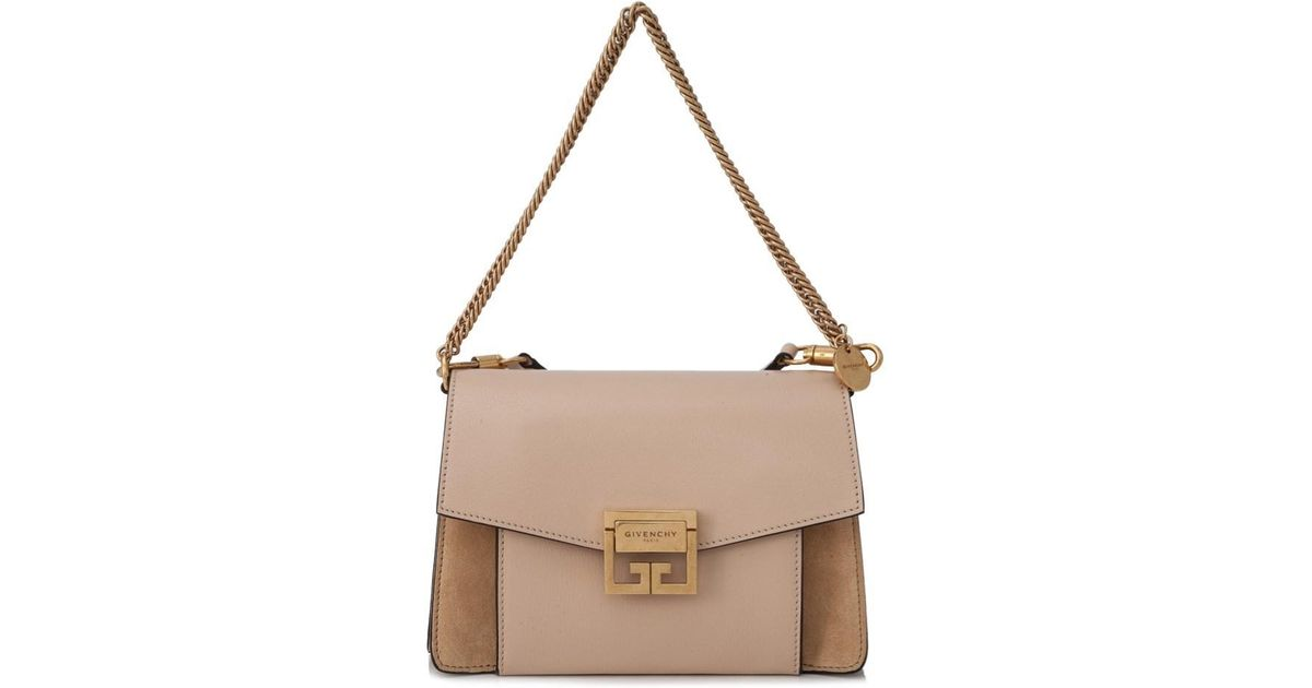 ... release date  4bf64 c8aea Lyst - Givenchy Small Gv3 Bag in Natural ... 32175d6f94