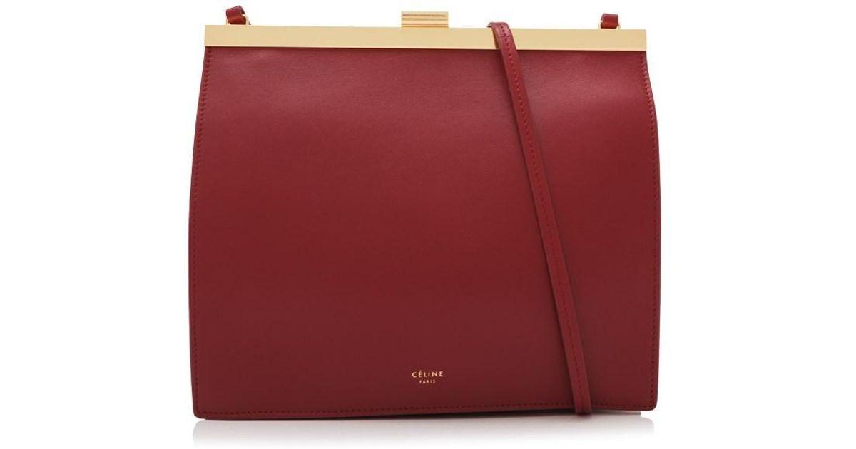 27b148892ddb Lyst - Céline Céline Mini Clasp Bag in Red