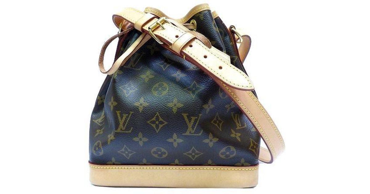 0703408e2517 Lyst - Louis Vuitton Authentic Monogram Canvas Mini Noe Handbag M42227 0226  in Brown