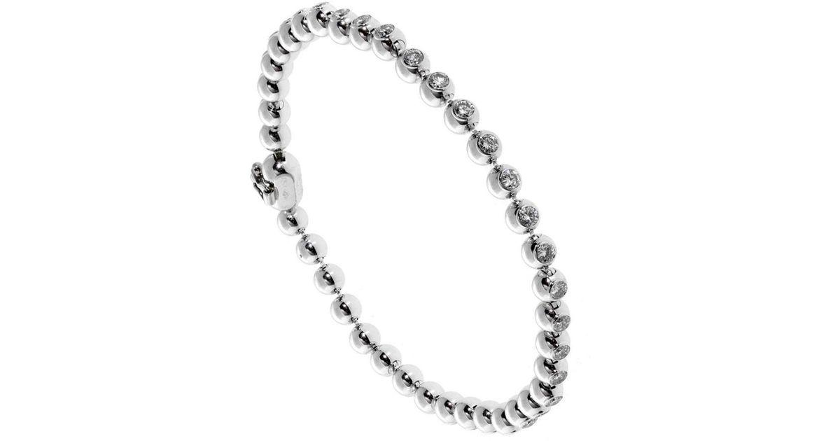 Cartier Diamond Gold Tennis Bracelet In