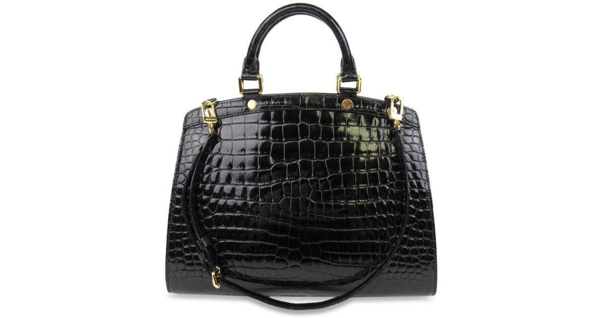 6df76dbc6fe5 Lyst Louis Vuitton Crocodile Brea Mm Shoulder Bag Black N92327 In