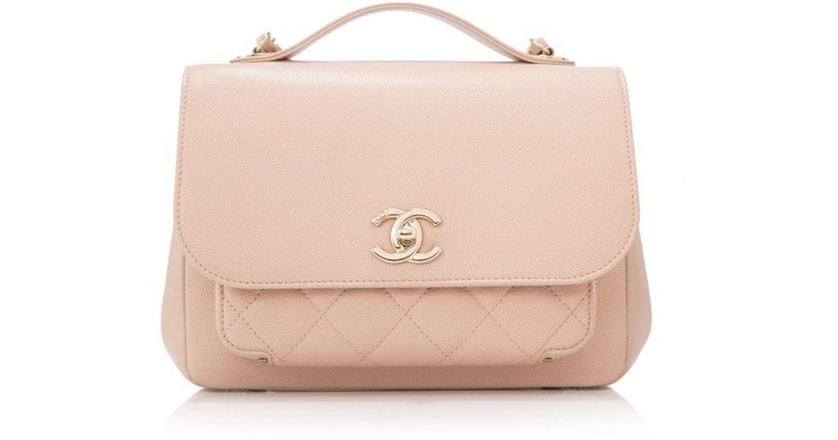 0ad3d2390d22 Lyst - Chanel Pre-owned Business Affinity Small Flap Bag in Natural