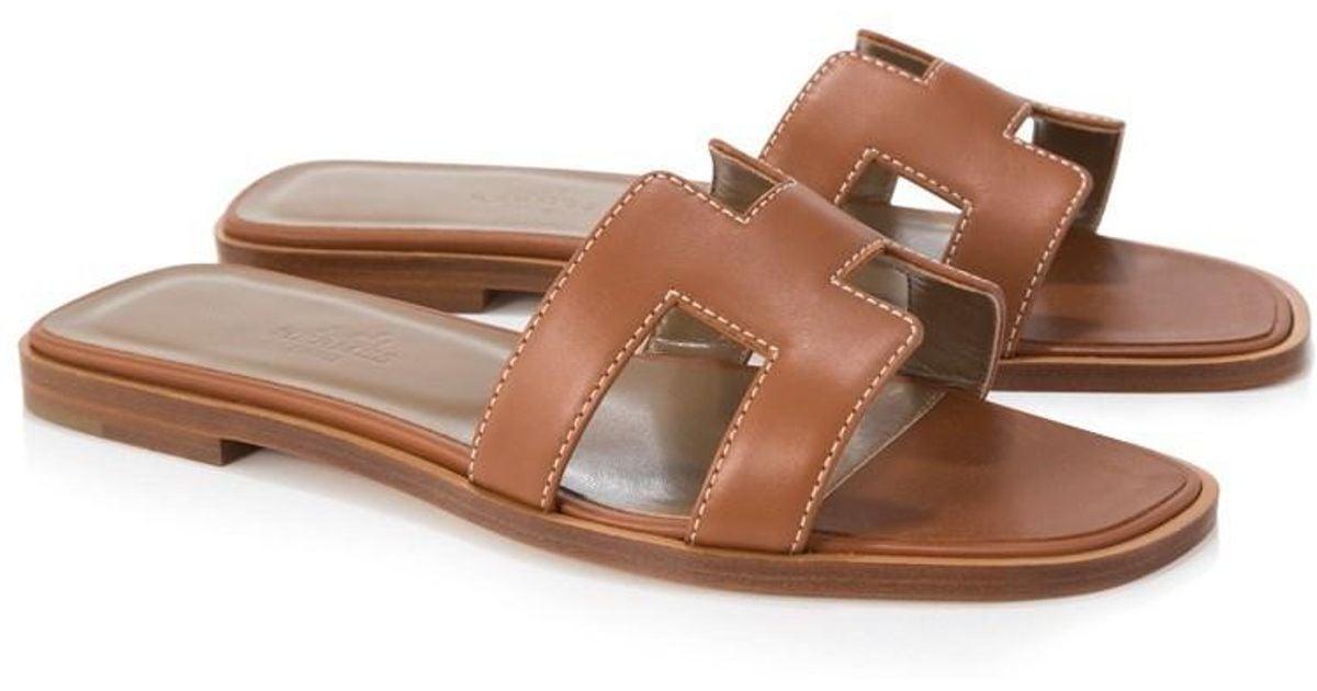 Oran Hermès Brown Pre Sandals Owned EDI2W9H