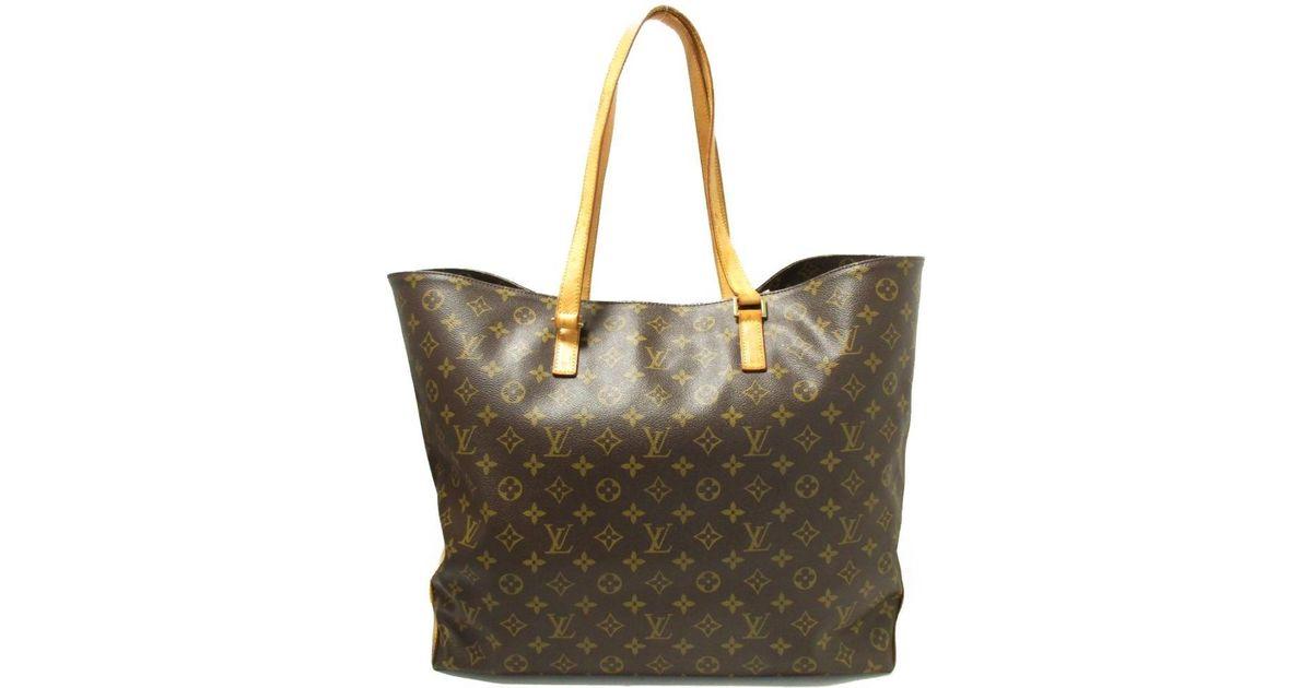 b9676493fe07 Lyst - Louis Vuitton Monogram Cabas Alto Shoulder Tote Bag M51152 in Brown