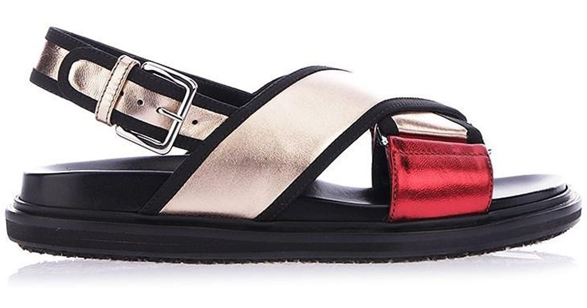 Laminated Marni Leather Lyst Multicolor Shoes Sandals Ss18 9HED2I