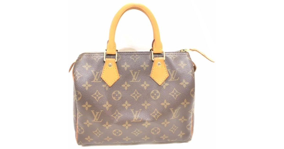 c1504a48cb33 Lyst - Louis Vuitton Speedy 25 Boston Hand Bag Monogram Canvas M41528 in  Brown