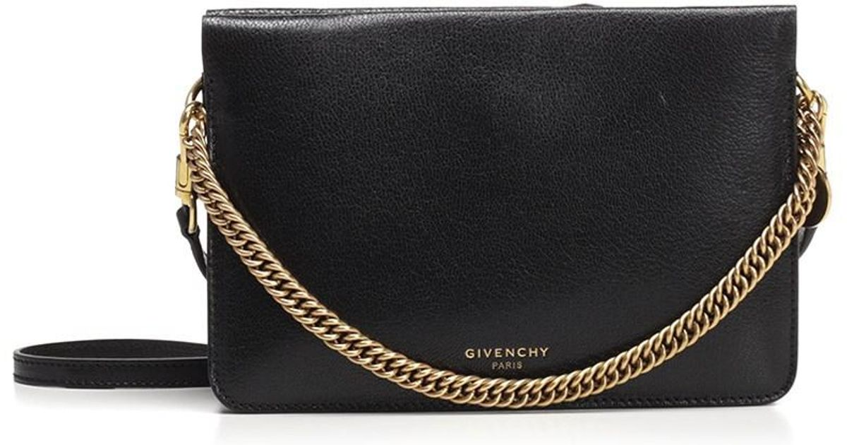 b1509ec059 Lyst - Givenchy Cross3 Bag Grained Leather Suede Black in Black