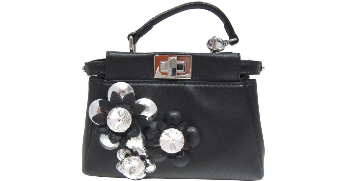 Lyst - Fendi Auth Micro Peekaboo Bag in Black f687a9b24a16d