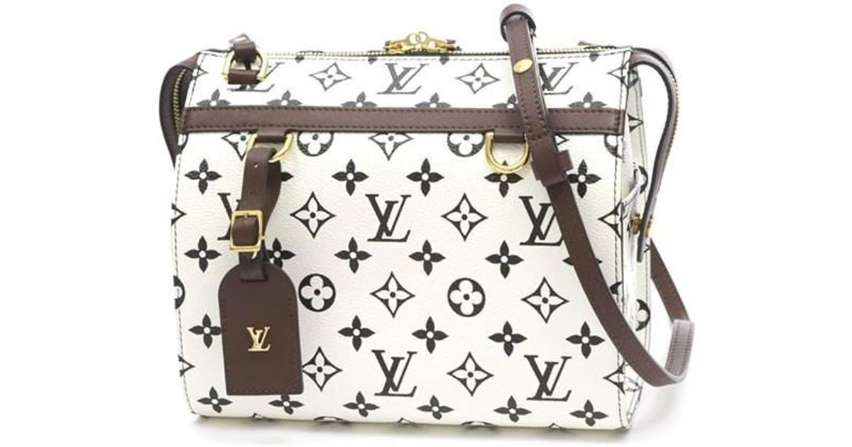 f52c97e816d9 Lyst - Louis Vuitton Monogram Speedy Amazon Pm Shoulder Bag Bron M 4 2210  in White