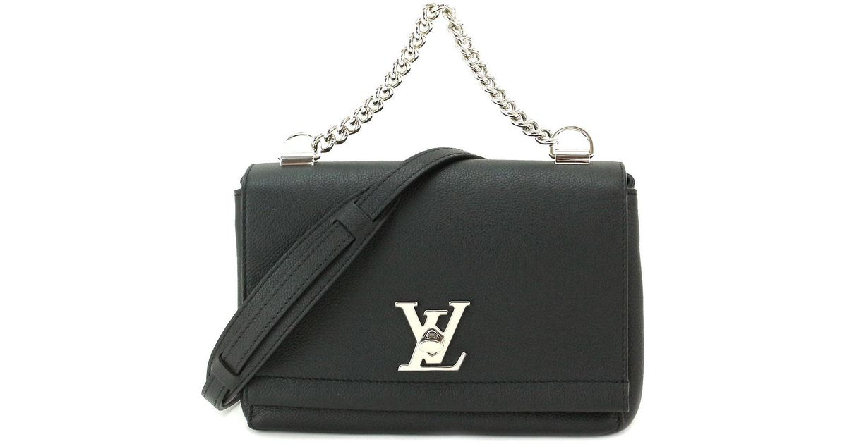 b334c3427a5c Lyst - Louis Vuitton Lockme Ii Bb 2way Hand Bag Leather Noir M51200  90038054.. in Black