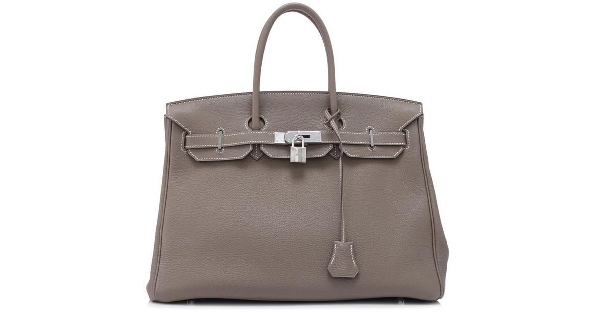 6dd59cb45d ... new zealand lyst hermès pre owned hermès etoupe togo birkin 35 in brown  065a4 20ff4