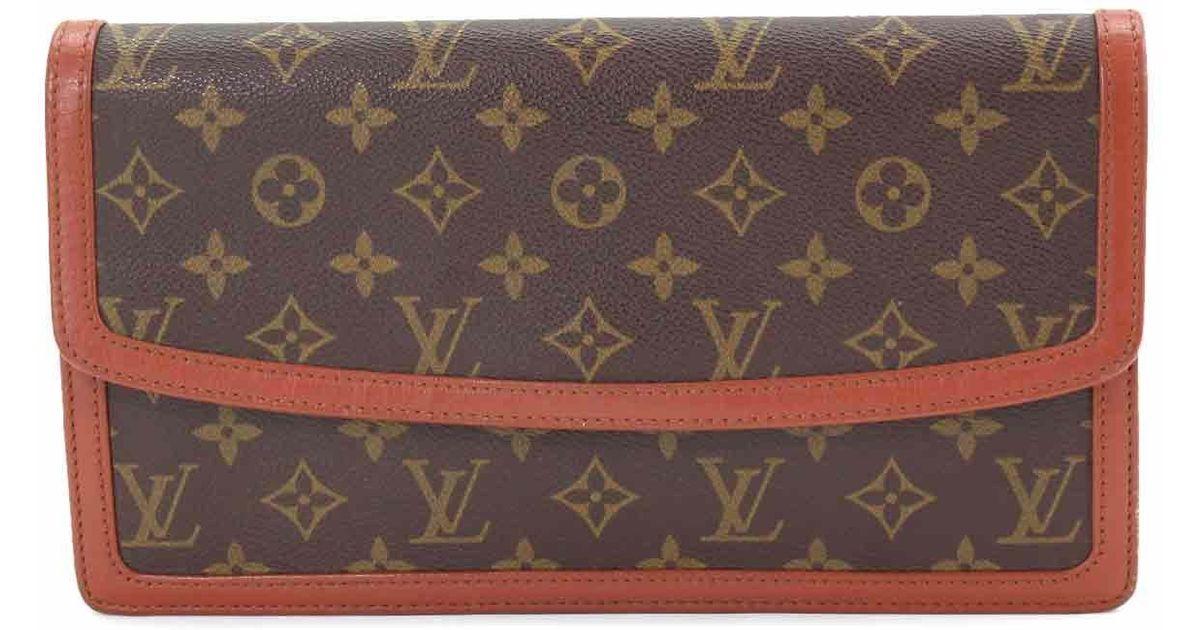 1b278893b3c9 Lyst - Louis Vuitton Monogram Pochette Dame Clutch Bag M51810 Purse  90043430.. in Brown