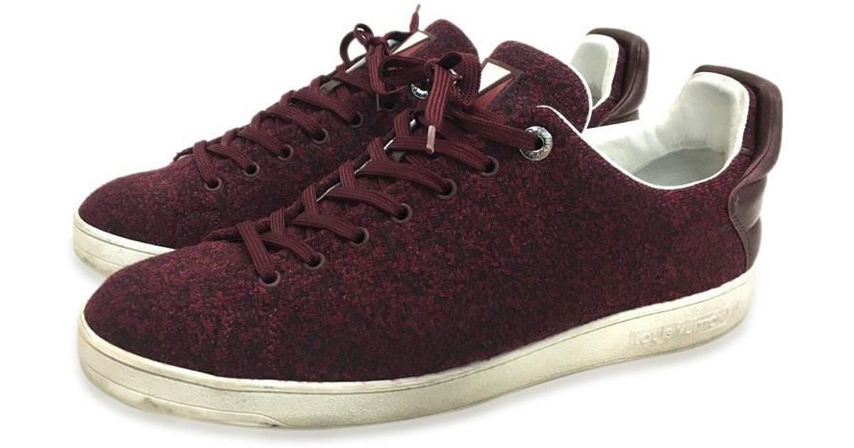 7d944db5f2c Louis Vuitton Red Cup Canvas X Leather Men's Shoes Sneakers Bordeaux Type  Canvas/leather for men