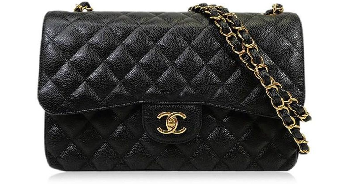 Lyst - Chanel Matelasse 30 Double Flap Chain Shoulder Bag Black bordeaux  Caviar Skin A58600  never Used  authentic  in Black 08210f8df837f