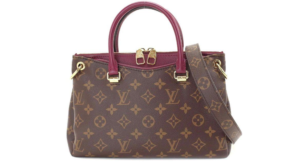 3f4f951223c9 Lyst - Louis Vuitton Monogram Pallas Bb 2way Hand Bag Raisin M42961  90046665.. in Brown