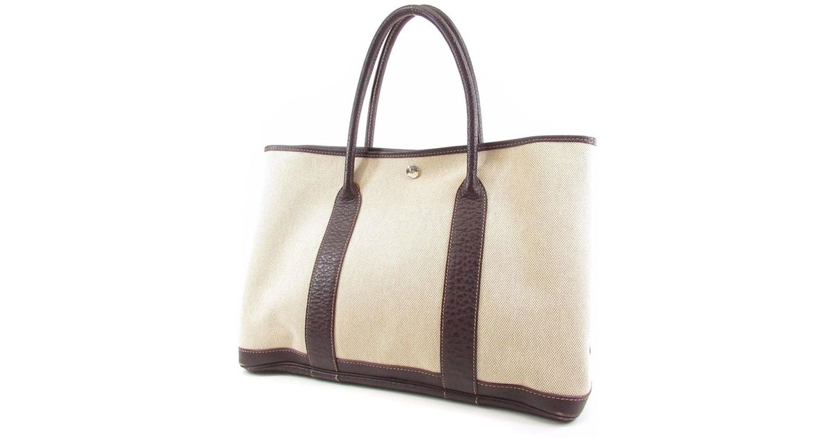 1d6924695b9e3 Lyst - Hermès Towel Tote Bag Garden Party Pm in Natural