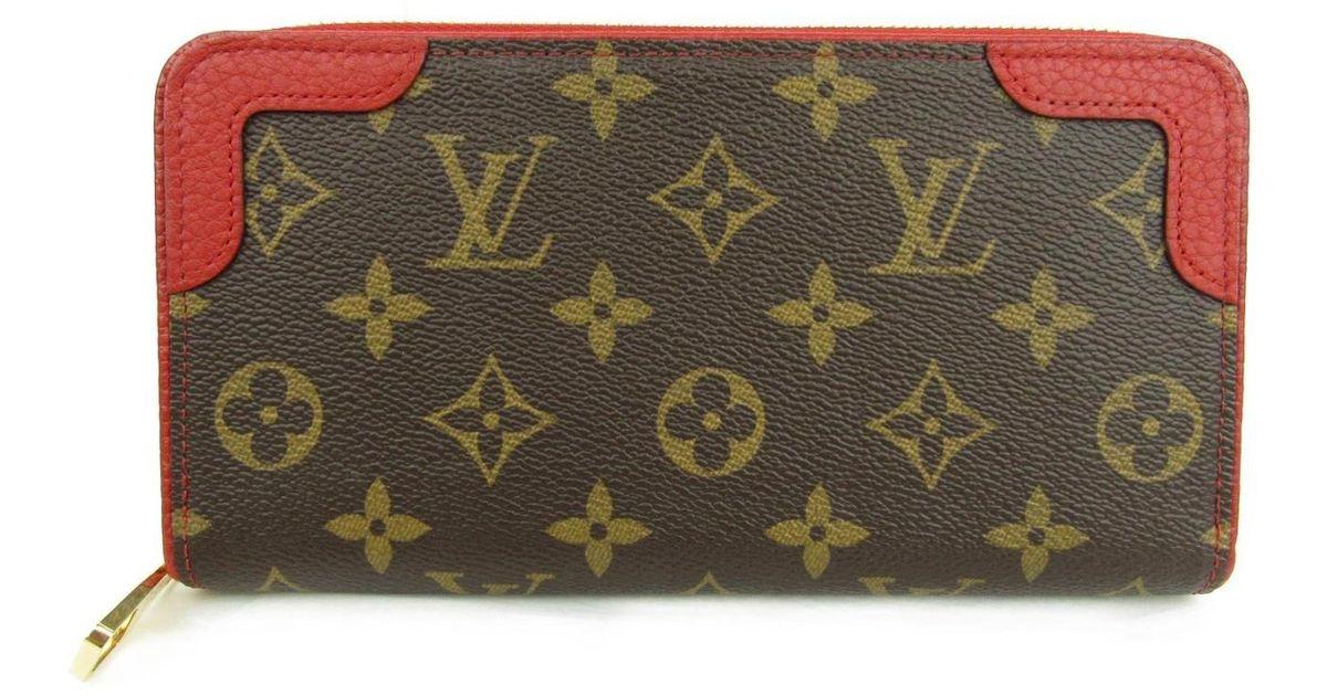 83528a8a238 Louis Vuitton - Brown Zippy Wallet Retiro Around Long Purse M61854 Monogram  Cerise - Lyst