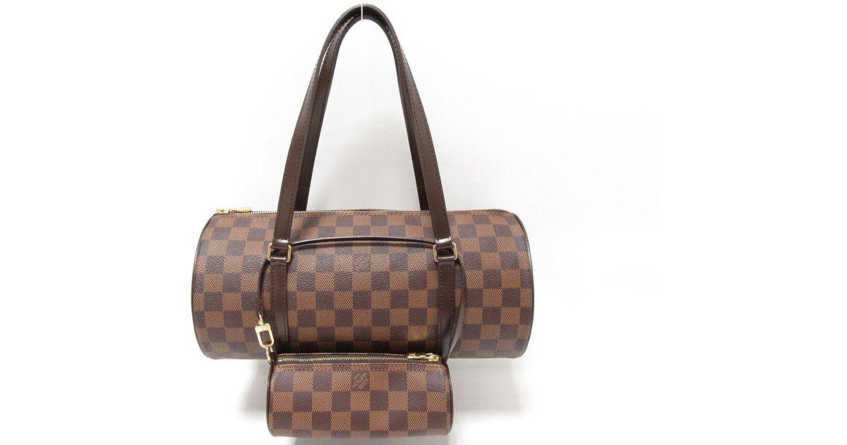 873a5c1f4666 Lyst - Louis Vuitton Authentic Damier Papillon Gm N51303 Ebene Handbag in  Brown