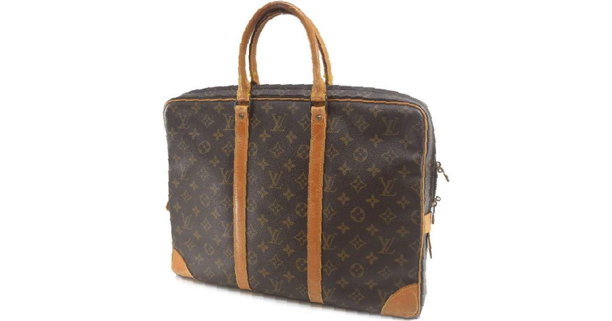c6a399e315e1 Lyst - Louis Vuitton Monogram M53361 Monogram Canvas Brown Business Bag Mens  in Brown for Men