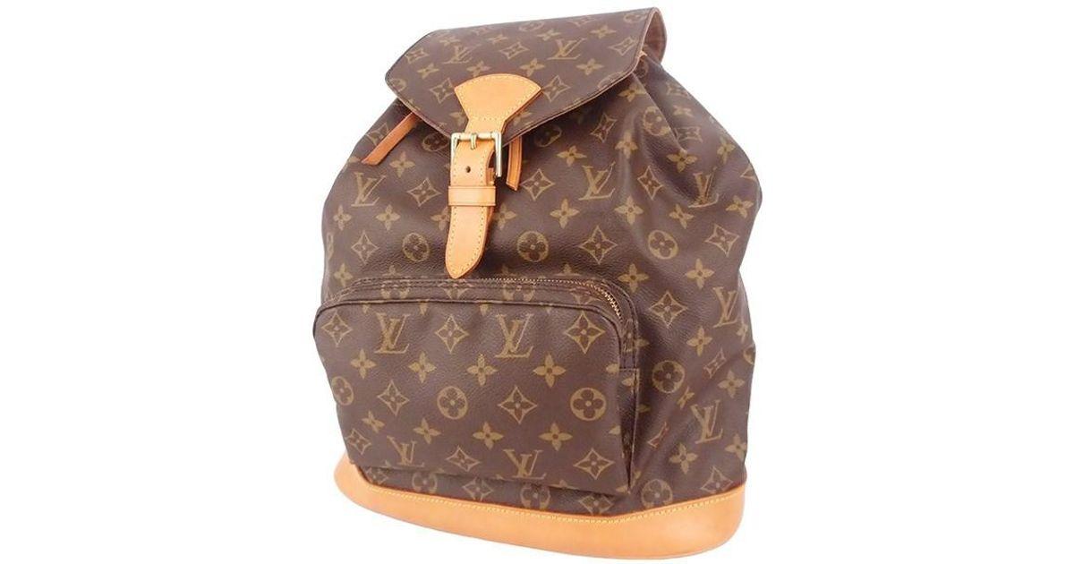 ae0e6fc9 Louis Vuitton Montsouris Gm Monogram M51135 Backpack Women's Men's in Brown  - Lyst