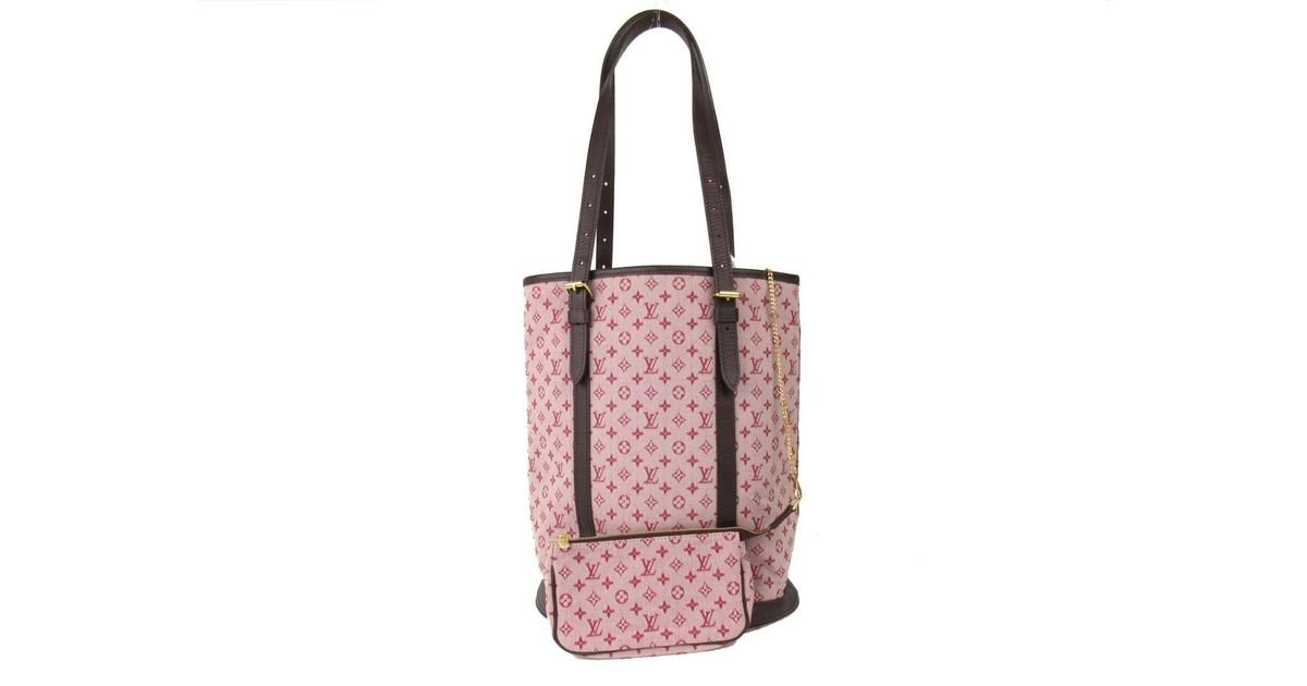 b749b6eb2811 Lyst - Louis Vuitton Auth Bucket 27 Tote Bag Sp Order Item Pink Monogram  Mini in Pink