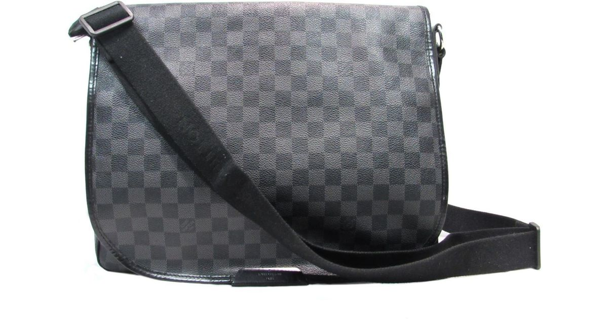 64379513955f Lyst - Louis Vuitton Authentic Daniel Gm Shoulder Bag Damier Graphite  N58033 in Black for Men