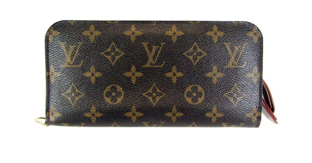 ffe526ffbb3 Lyst - Louis Vuitton Monogram Portefeuille Insolite Wallet M60042 in Brown