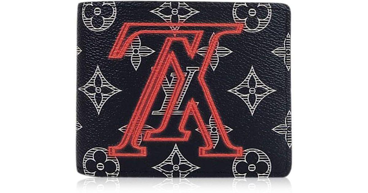 4d064222 Louis Vuitton Black 2018 A/w Limited Wallet Portefeuille Multiple Monogram  Upside Down Monogram Ink M62891[brand New][authentic] for men