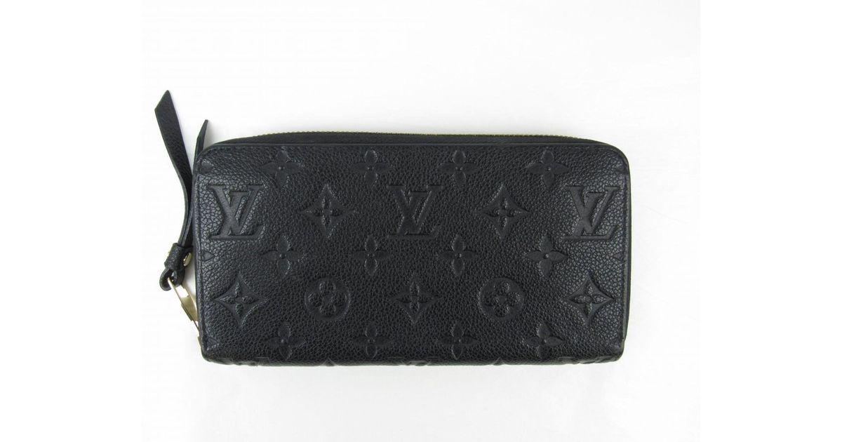 new product 05830 fa35f Louis Vuitton - Monogram Empreinte Zippy Wallet Black M61864 - Lyst