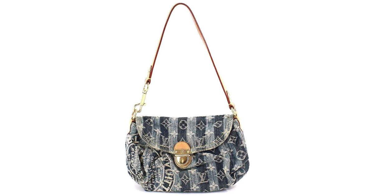 edc87f5df42 Louis Vuitton Monogram Denim Mini Pleaty Raye Hand Bag M95333 90042275.. in  Blue - Lyst