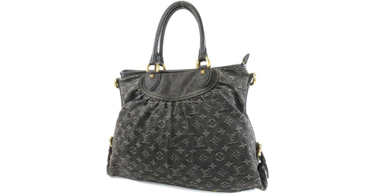 c503c5f56cb8 Lyst - Louis Vuitton Monogram Denim Shoulder Bag M95352 Neo Cabie Gm in  Black