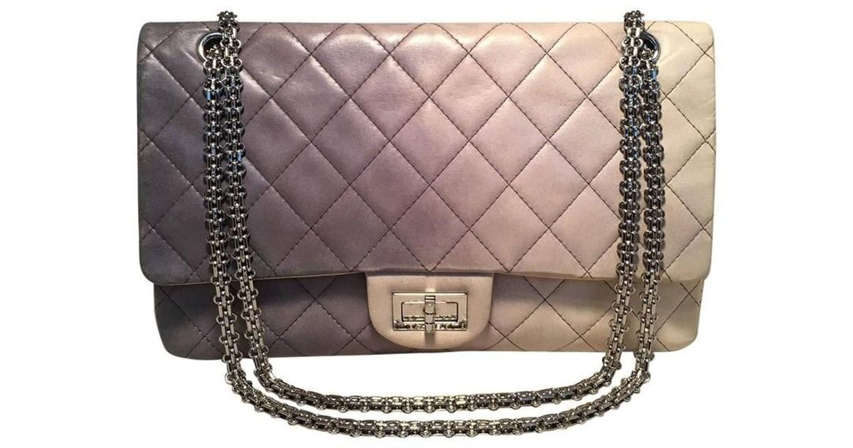 11fec019aae85d Chanel Double Hybrid Degrade Ombre Grey Leather 2.55 Reissue 227 Classic  Flap in Gray - Lyst