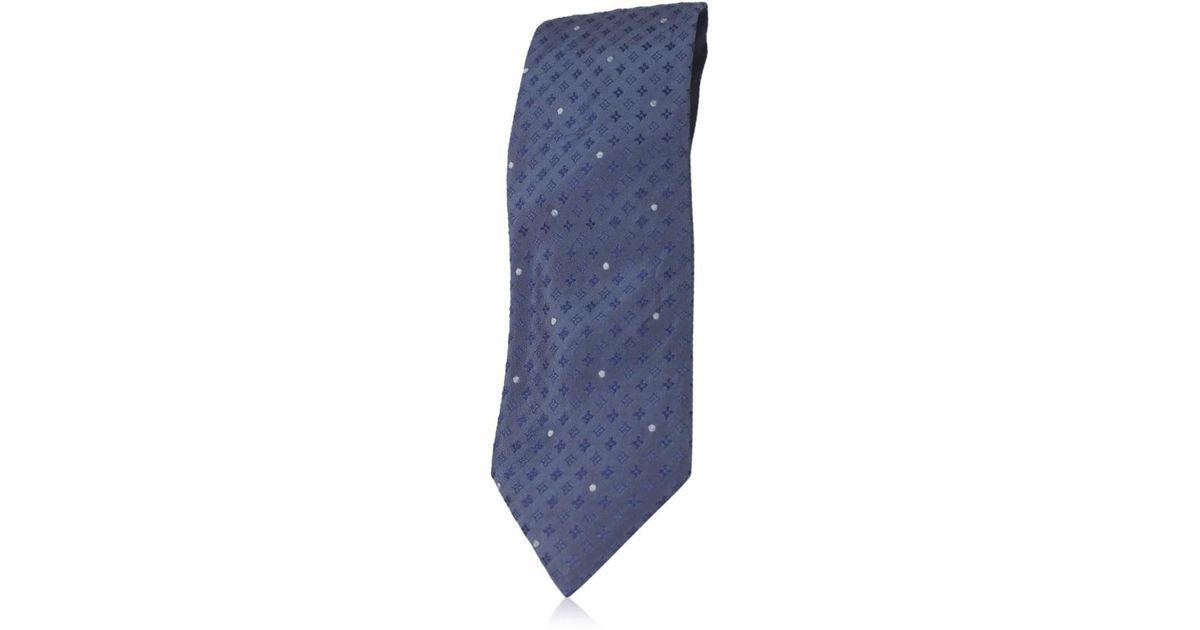 1357fe80d029 Louis Vuitton Cravatt - Monogram Flower Dot Necktie Blue Silk in Blue for  Men - Lyst