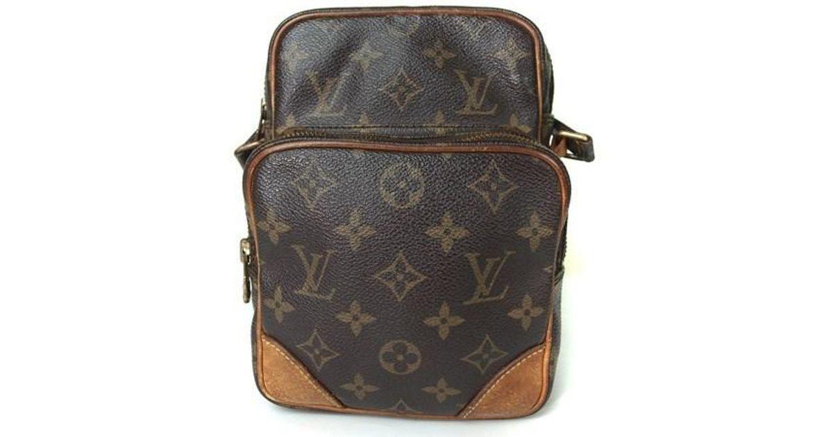 24c328ffb196 Lyst - Louis Vuitton Mini Amazon Monogram Canvas Shoulder Bag in Brown