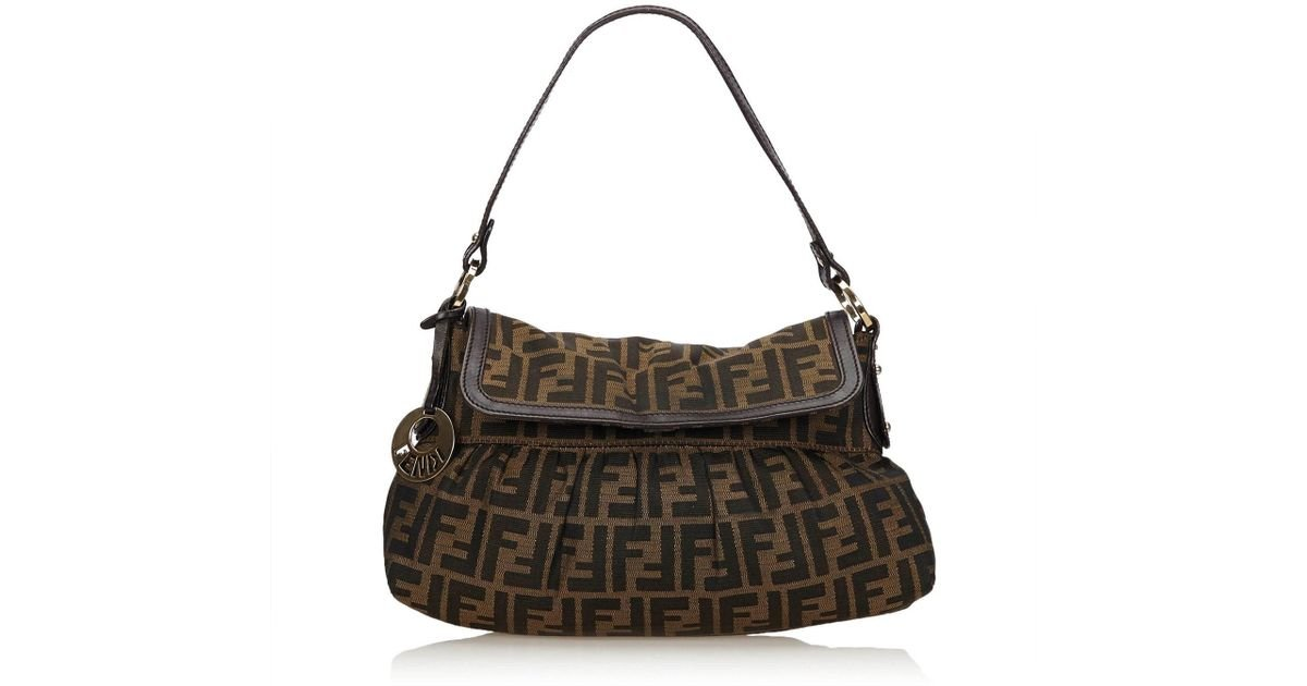 d49ec87f681c Lyst fendi jacquard zucca chef bag in brown jpeg 1200x630 Fendi zucca chef  handbag