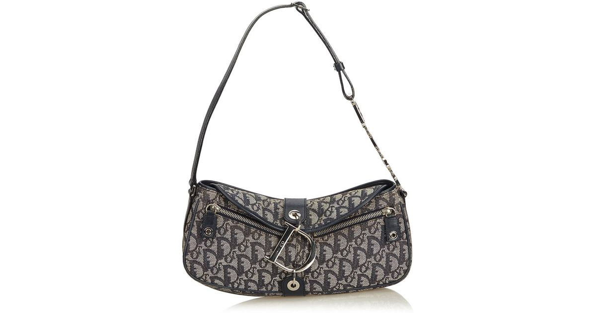 208ccffde2 Dior Blue Oblique Canvas D-ring Shoulder Bag