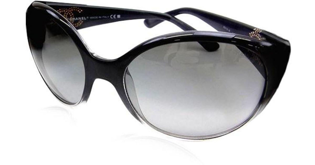 38ad47ed3300 Chanel Black Sunglasses With Rhinestones - Image Of Glasses