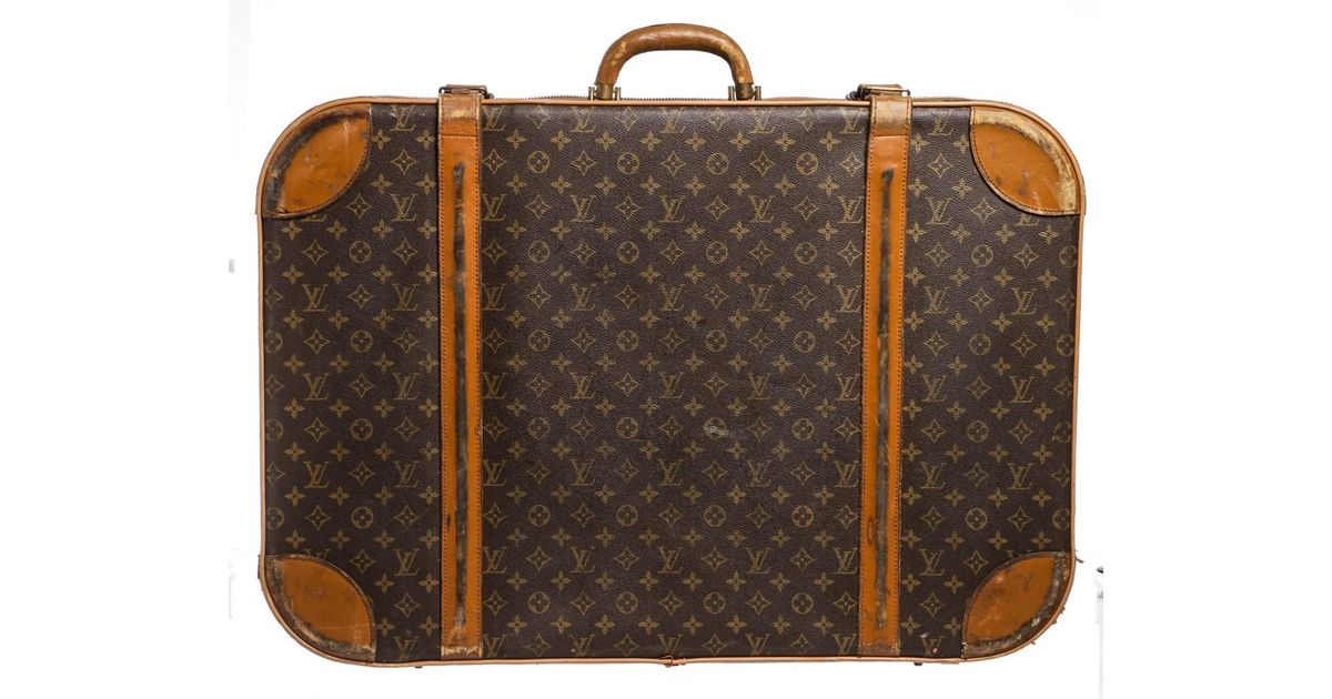 650c83ebca77 Lyst - Louis Vuitton Vintage Monogram Canvas Leather Suitcase Luggage in  Brown for Men