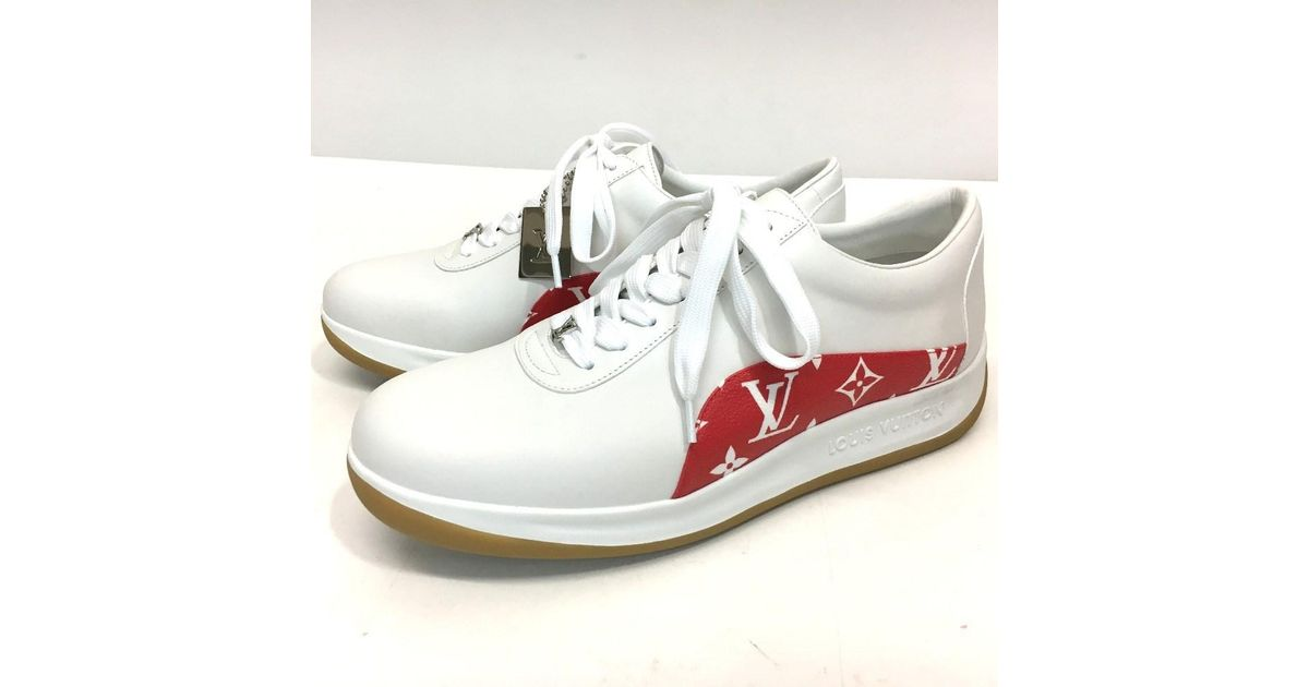 59a6a8bdc01 Lyst - Louis Vuitton Unused!! ×supreme 17aw Supreme Monogram Sport Sneaker  in Red