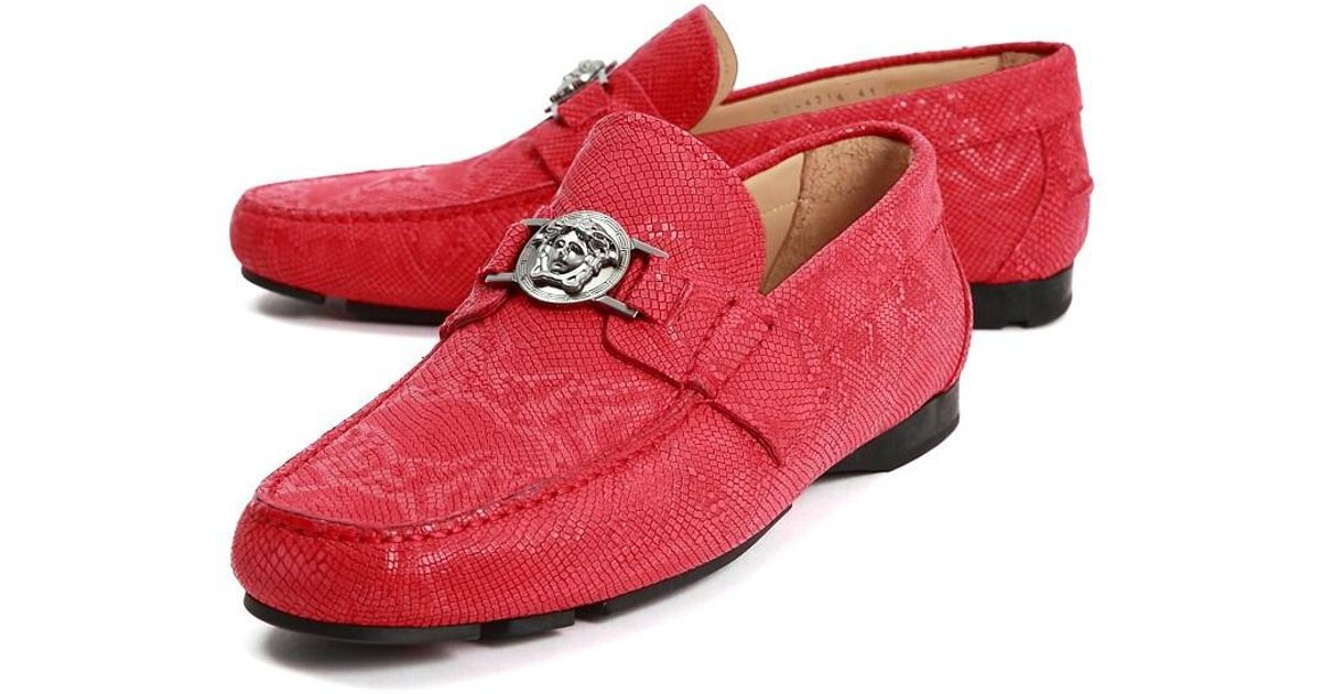 Versace Dress Shoes in Red for Men - Lyst
