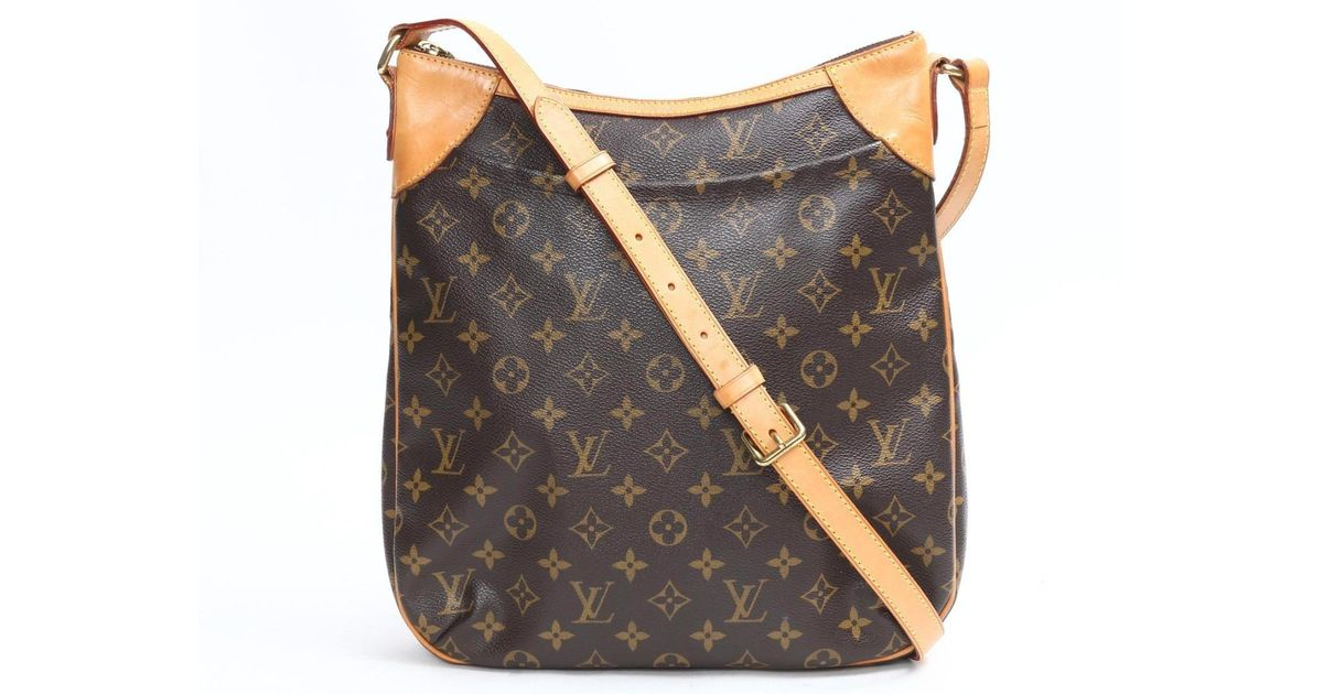 4766623d346e Lyst - Louis Vuitton Odeon Mm Shoulder Cross Body Bag Monogram Canvas M56389  in Brown