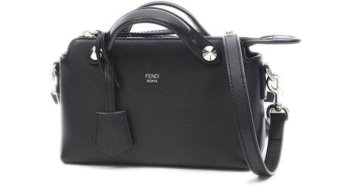 a571340f Fendi Visorway Mini 2way Shoulder Bag Calfskin Black 8bl135
