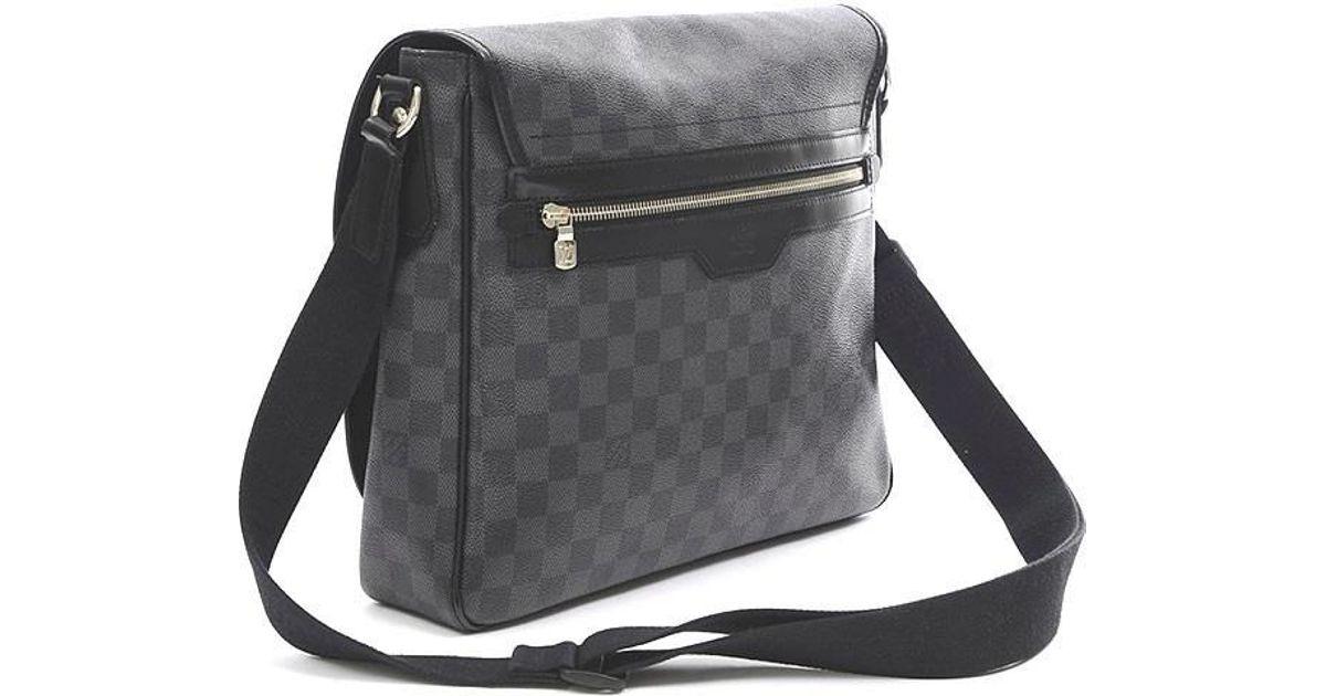 Lyst - Louis Vuitton Damier Graphite Daniel Mm Shoulder Bag N 58029 in  Black for Men 4af7223834