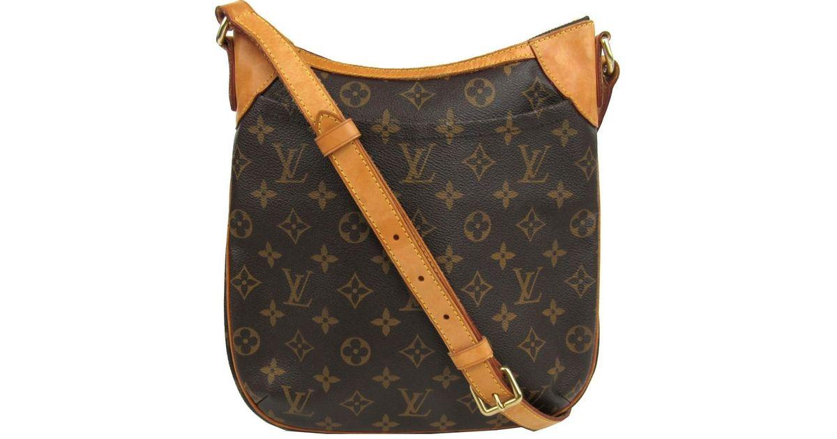 87d2b6d1007 Louis Vuitton Odeon Pm Shoulder Crossbody Bag M56390 Monogram Brown